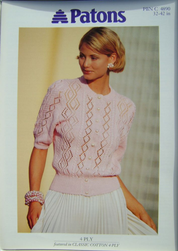 Patons Knitting Pattern 4890